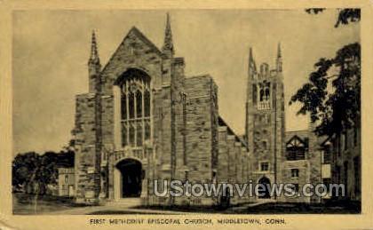 First Methodist Episcopal Church - Middletown, Connecticut CT Postcard
