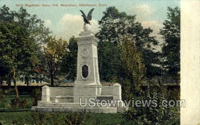 24th Regiment Monument - Middletown, Connecticut CT Postcard