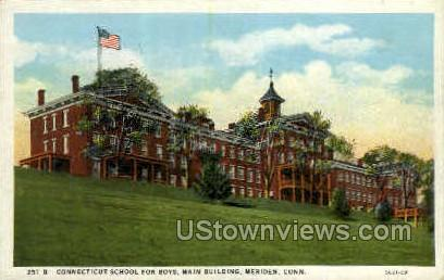 Connecticut School for Boys - Meriden Postcard