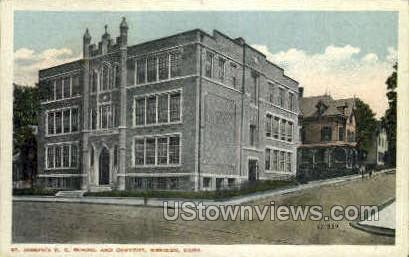 St. Joseph's R. C. School - Meriden, Connecticut CT Postcard