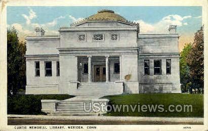 Curtis Memorial Library - Meriden, Connecticut CT Postcard