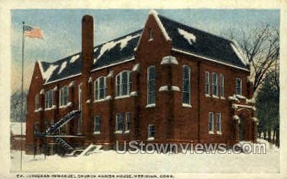 Lutheran Immanual Church - Meriden, Connecticut CT Postcard