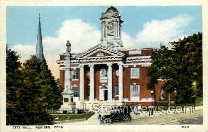 City Hall  - Meriden, Connecticut CT Postcard