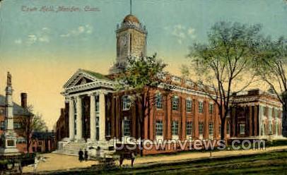 Town Hall - Meriden, Connecticut CT Postcard