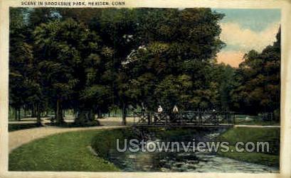 Brookside Park - Meriden, Connecticut CT Postcard