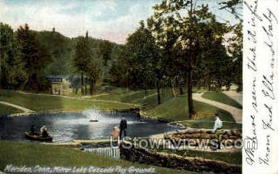 Mirror Lake - Meriden, Connecticut CT Postcard