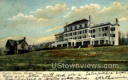 Courtis Homes - Meriden, Connecticut CT Postcard