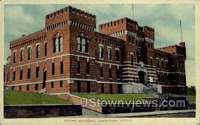 State Armory - Meriden, Connecticut CT Postcard