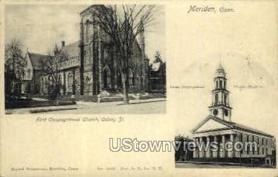 First Congregational Church - Meriden, Connecticut CT Postcard
