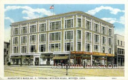 Derecktor's Block Number 2 - Meriden, Connecticut CT Postcard