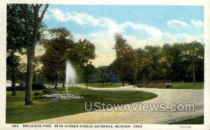 Brookside Park - Meriden, Connecticut CT Postcard
