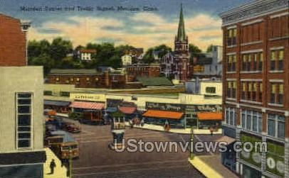 Meriden Center - Connecticut CT Postcard