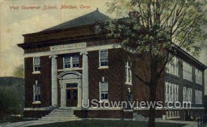 West Grammar School - Meriden, Connecticut CT Postcard