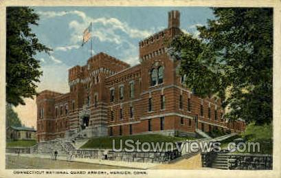 Ct National Guard Armory - Meriden, Connecticut CT Postcard