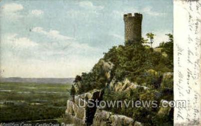 Castle Craig Tower - Meriden, Connecticut CT Postcard