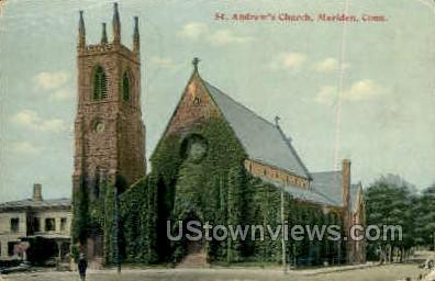 St. Andrew's Church - Meriden, Connecticut CT Postcard