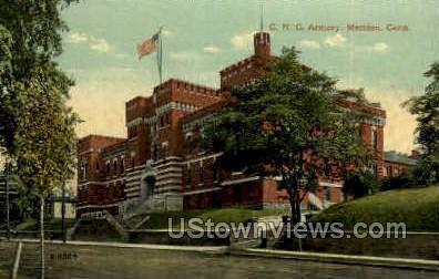 C. N. G. Armory - Meriden, Connecticut CT Postcard