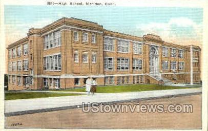 High School - Meriden, Connecticut CT Postcard