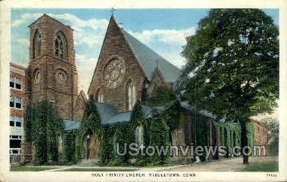 Holy Trinity Church - Middletown, Connecticut CT Postcard