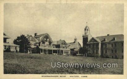 Schermerhorn Home - Milford, Connecticut CT Postcard