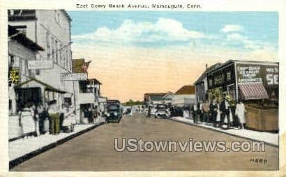 Cosey Beach Ave. - Momauguin, Connecticut CT Postcard