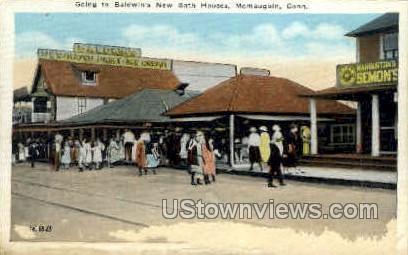 Baldwin's New Bath House - Momauguin, Connecticut CT Postcard