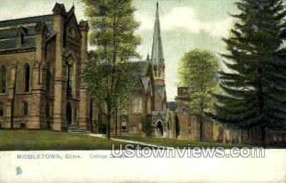 College Campus - Middletown, Connecticut CT Postcard