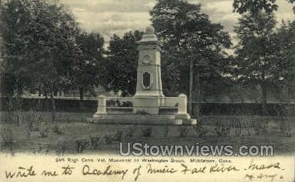 24th Regiment Monument - Middletown, Connecticut CT Postcard