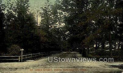 St. James Street - Middletown, Connecticut CT Postcard