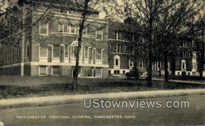 Manchester Memorial Hospital - Middletown, Connecticut CT Postcard