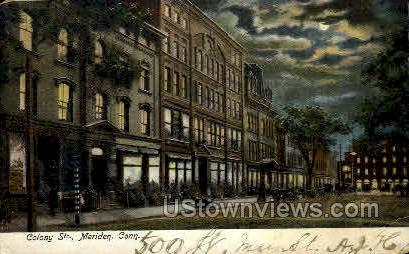 Colony St. - Middletown, Connecticut CT Postcard