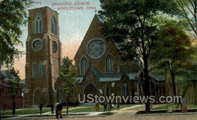 Episcopal Church - Middletown, Connecticut CT Postcard