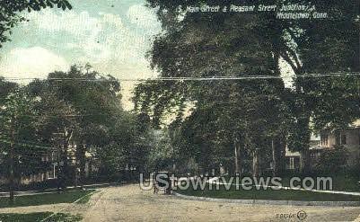 Main Street - Middletown, Connecticut CT Postcard