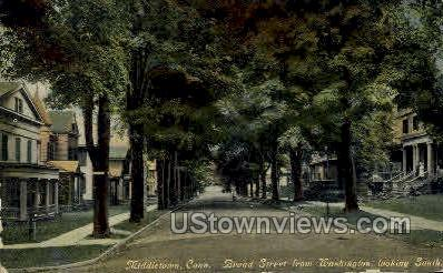 Broad Street - Middletown, Connecticut CT Postcard