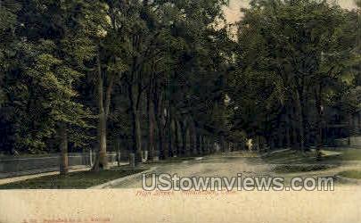 High Street - Middletown, Connecticut CT Postcard