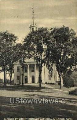 Church of Christ - Milford, Connecticut CT Postcard
