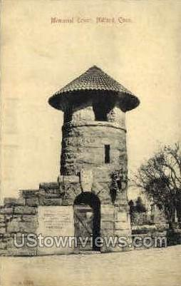 Memorial Tower - Milford, Connecticut CT Postcard