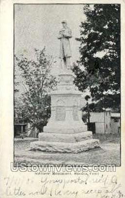 Soldiers' Monument - Moodus, Connecticut CT Postcard