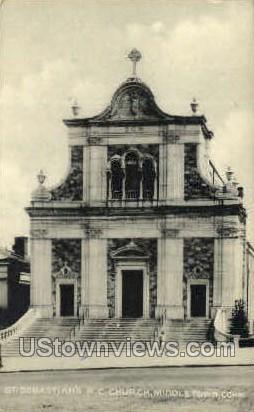 St. Sebastian's R. C. Church - Middletown, Connecticut CT Postcard