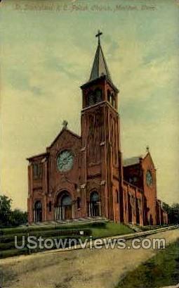 St. Stanislaus Polish R. C. School - Meriden, Connecticut CT Postcard