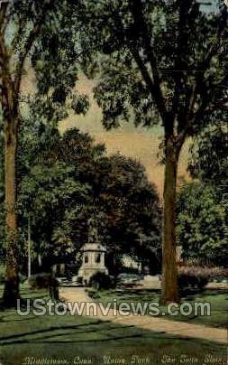 Union Park - Middletown, Connecticut CT Postcard
