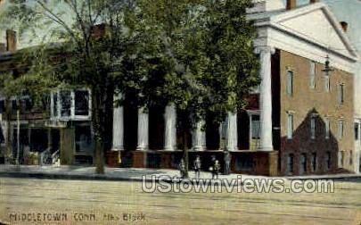 Elks Block - Middletown, Connecticut CT Postcard