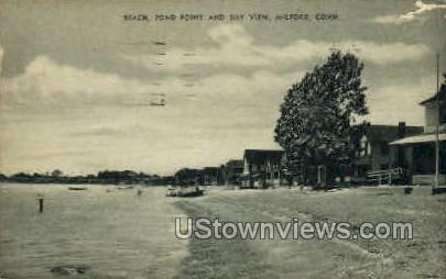 Bay View - Milford, Connecticut CT Postcard