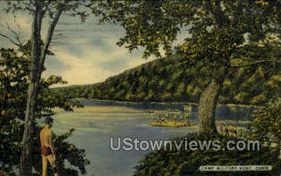 Camp Milford - Connecticut CT Postcard