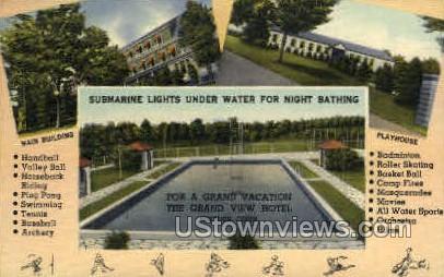 Grand View Hotel - Moodus, Connecticut CT Postcard