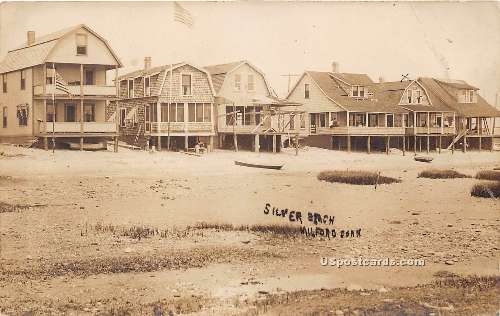 Silver Beach - Milford, Connecticut CT Postcard