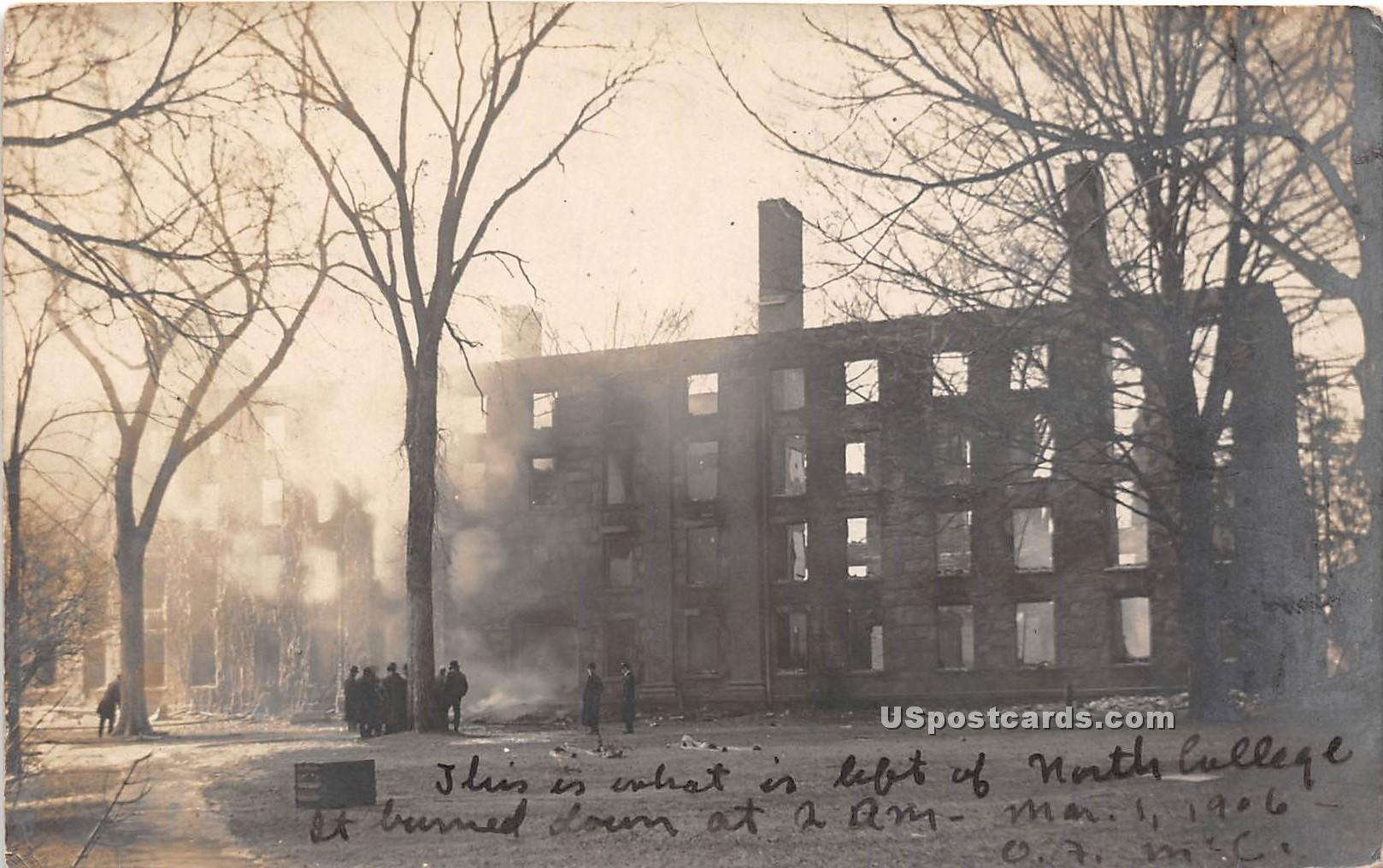 North College - Middletown, Connecticut CT Postcard