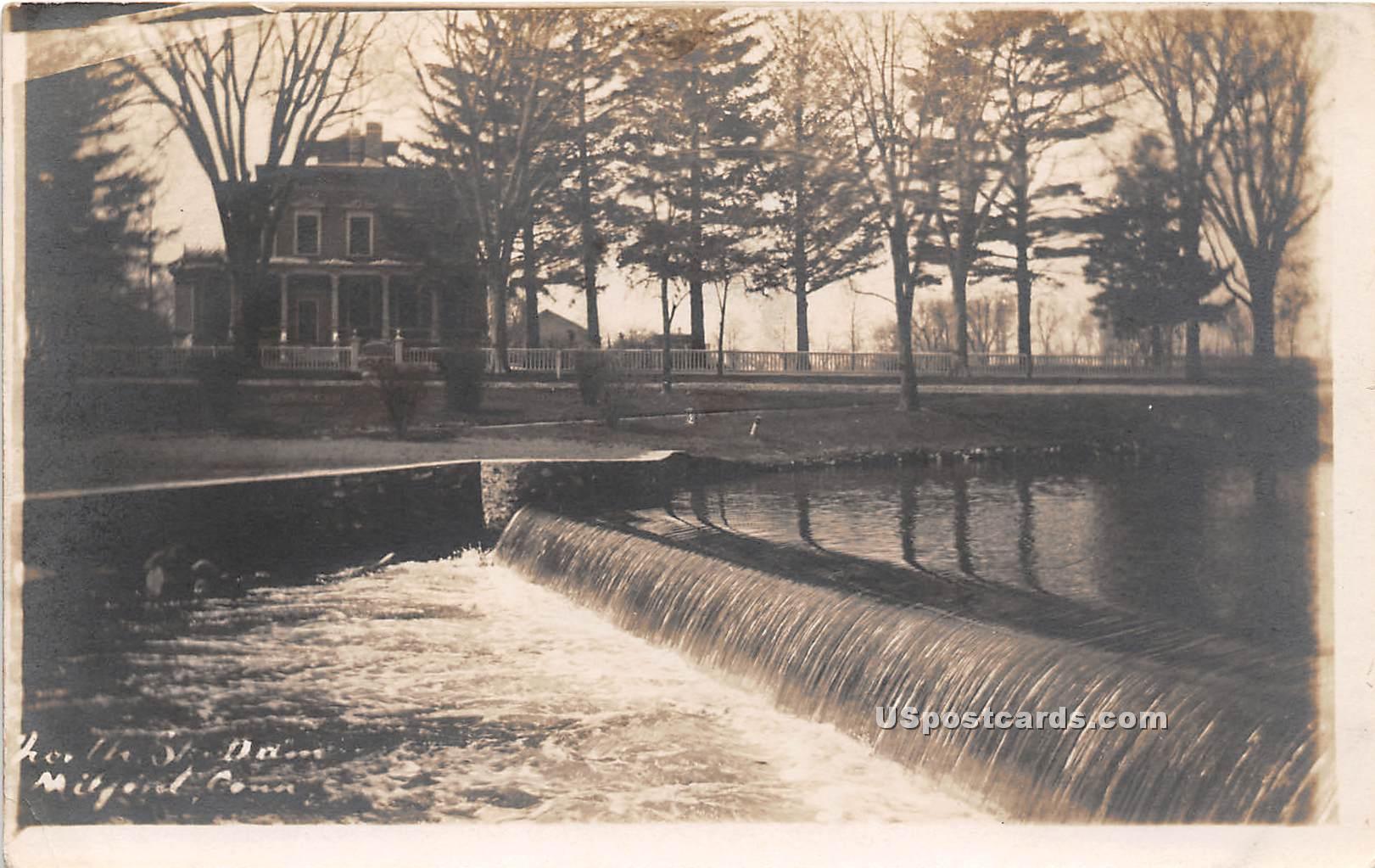 Dam - Milford, Connecticut CT Postcard