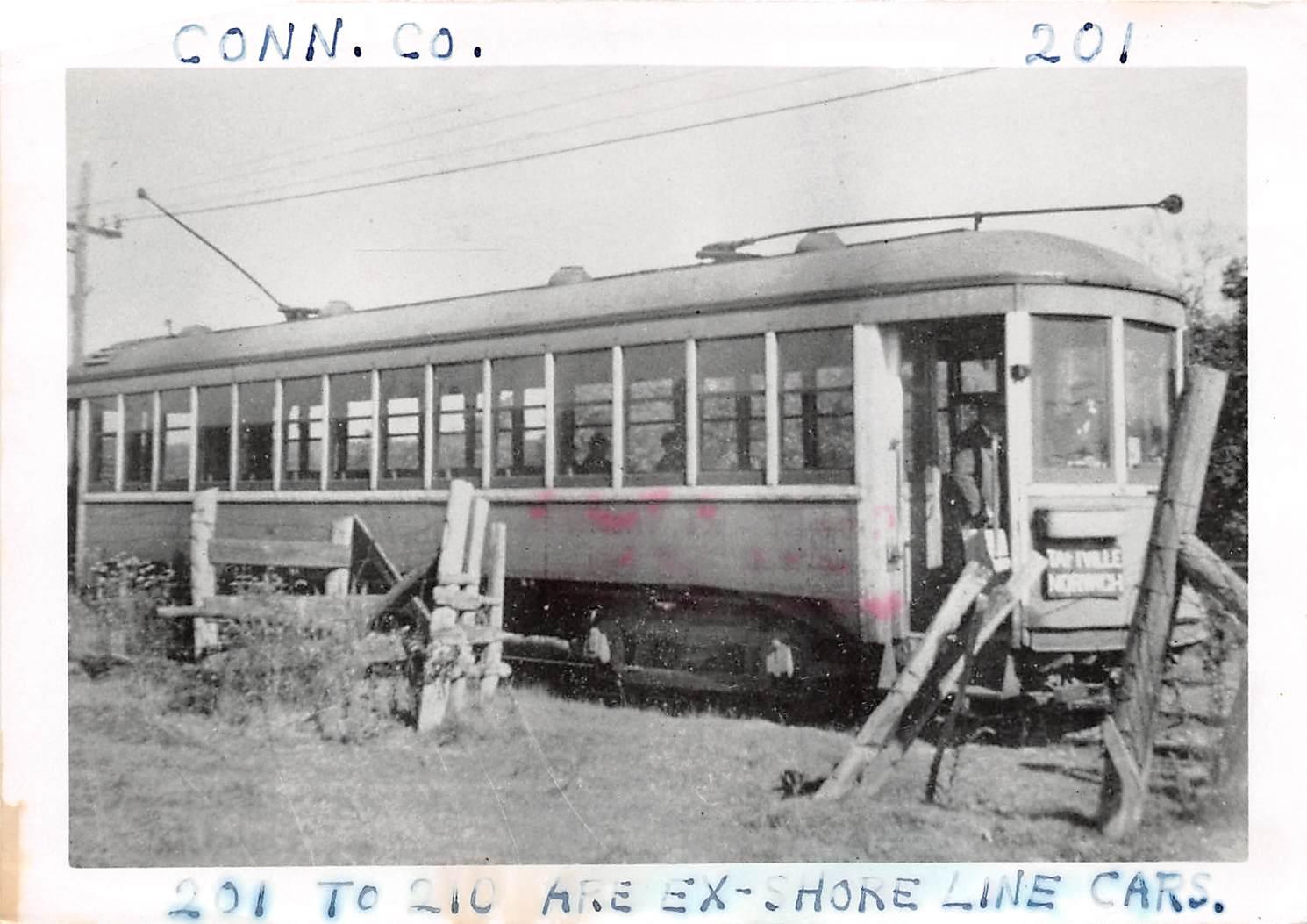 201-210 Ex Shore Line Cars - Misc, Connecticut CT Postcard