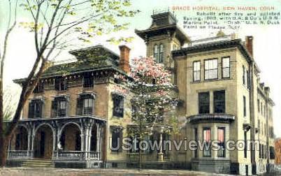 Grace Hospital - New Haven, Connecticut CT Postcard
